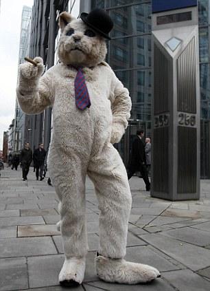 APTOPIX Britain RBS Protest