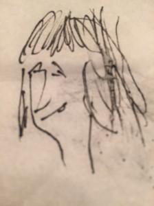 Another girl in a bar- biro on napkin- Steve Bee