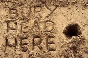 bury head here