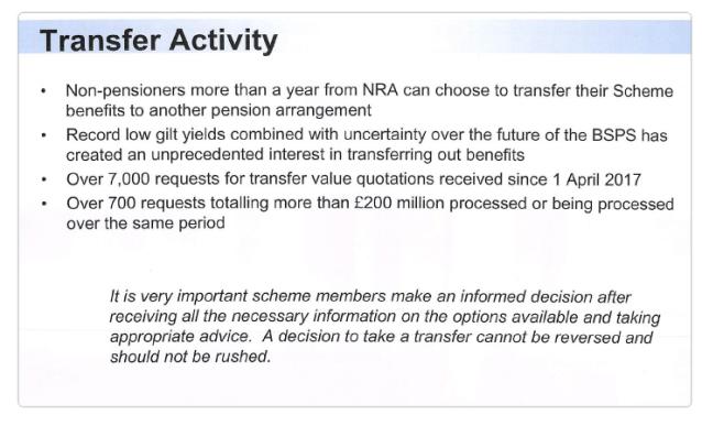 BSPS Transfer