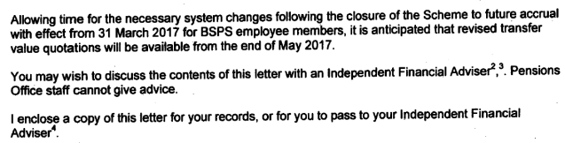 BSPS transfer change 2